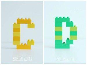 ساخت حروف انگلیسی با لگو