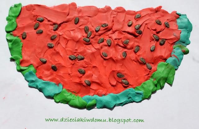 ساختن هندوانه با خمیر بازی07