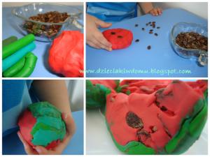 ساختن هندوانه با خمیر بازی 06