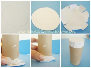 کاردستی با چوب بستنی و رول کاغذتوالت