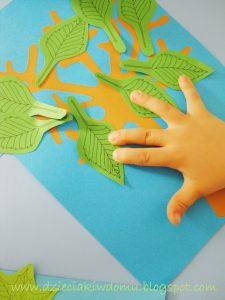 سرا آموزش کار دستی کودکان با برگ درختان25