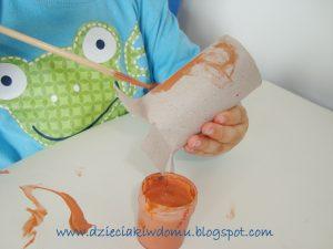 کاردستی کودک با برگ و مقوا