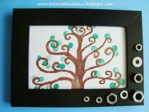 سرا نقاشی درخت با انگشت و رنگ 04