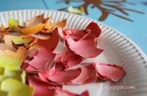 کاردستی کودکان ساخت درخت و گل