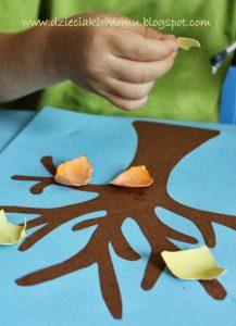 سرا کار دستی کودکان ساخت درخت و گل 04