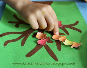 سرا کار دستی کودکان ساخت درخت و گل 05