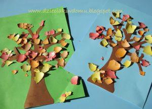 سرا کار دستی کودکان ساخت درخت و گل 06