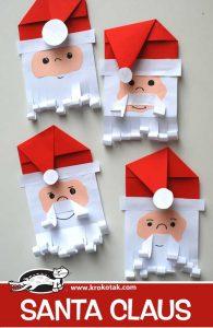 ساخت بابانوئل کاغذی