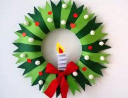 سرا تزئینات با مقوا و کاغذرنگی برای کریسمس 10 1