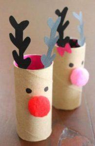 ساخت گوزن کریسمس با رول دستمال کاغذی