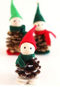 ساخت کاردستی کریسمس با میوه کاج