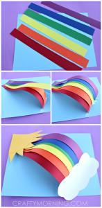 ساخت رنگین کمان با مقوا و کاغذ رنگی