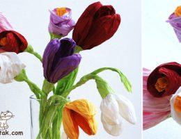 سرا ساخت کاردستی گل برای روز مادر 01