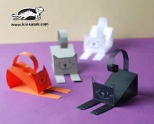 آموزش ساخت گربه کاغذی
