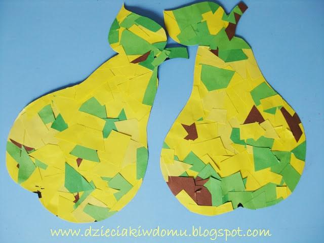 سرا ساخت گلابی با کاغذهای رنگی 06