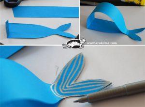 آموزش ساخت نهنگ با کاغذ رنگی