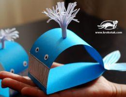 سراکاردستی ساخت نهنگ با کاغذ رنگی 06