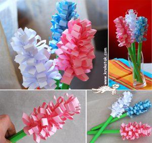 آموزش کاردستی گل های فصل بهار