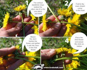 کاردستی ساخت تاج گل با گل طبیعی