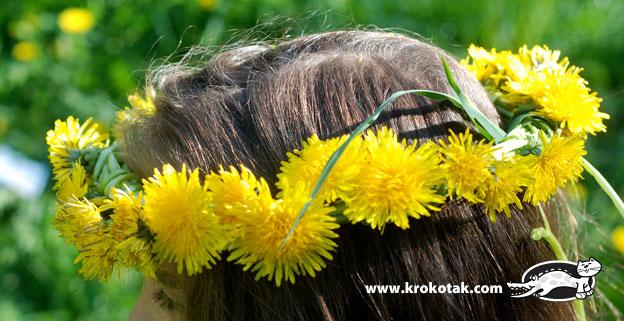 سرا ساخت تاج گل برای کودکان با گل های طبیعی 05