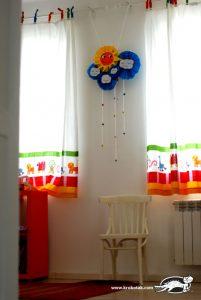ساخت خورشید با کاغذ رنگی و پارچه