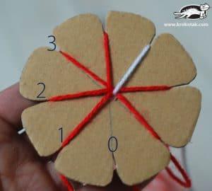 سرا ساخت کاردستی دست بند با کاموا 10