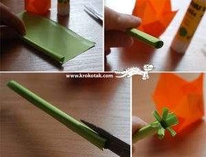 سرا ساخت کاردستی گل لاله از کاغذهای رنگی سری دوم 04