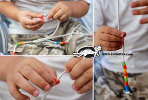 سرا کاردستی ساخت دست بند با پلاستیک 03
