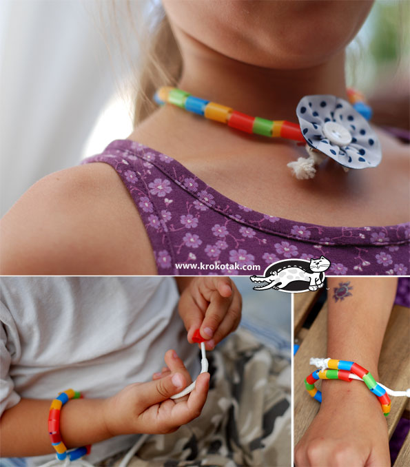 سرا کاردستی ساخت دست بند با پلاستیک 04