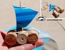 سرا کاردستی ساخت قایق با چوب پنبه 04