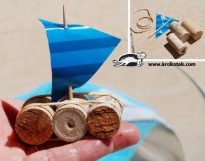آموزش ساخت قایق چوب پنبه ای