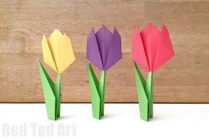 سرا کاردستی ساخت گل رز از کاغذهای رنگی 01