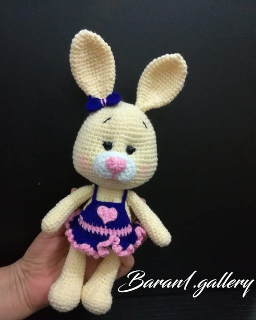 عروسک بافتنی   طرح خرگوش