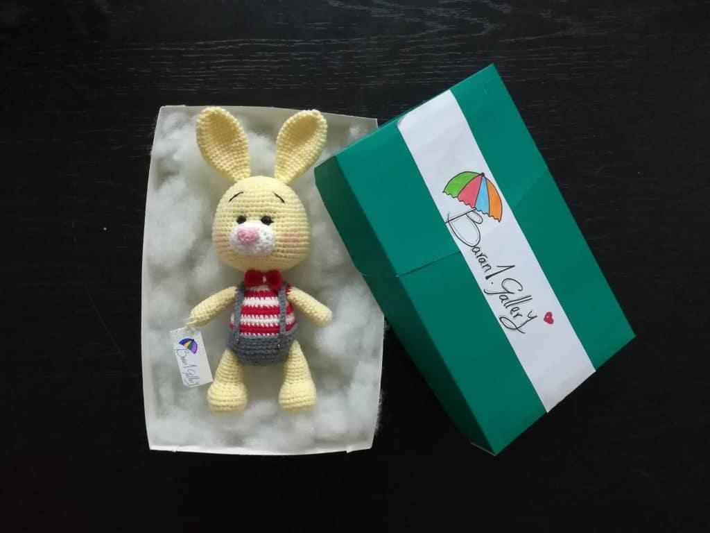 عروسک قلاب بافی   طرح خرگوش
