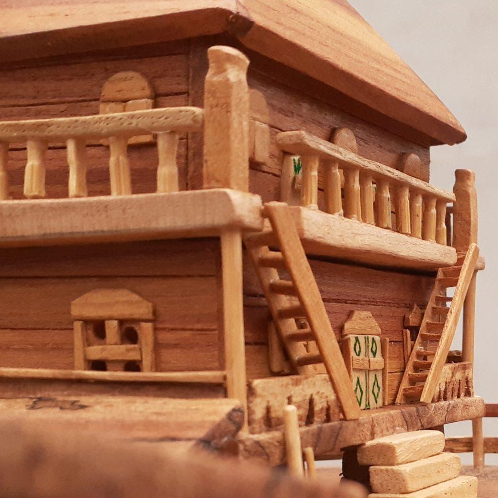 خانه روستای چوبی