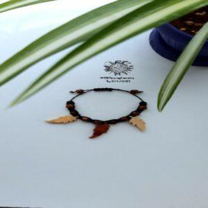 دستبند برگ پاییزی