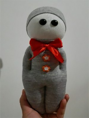 عروسک جورابی|طرح پسرانه