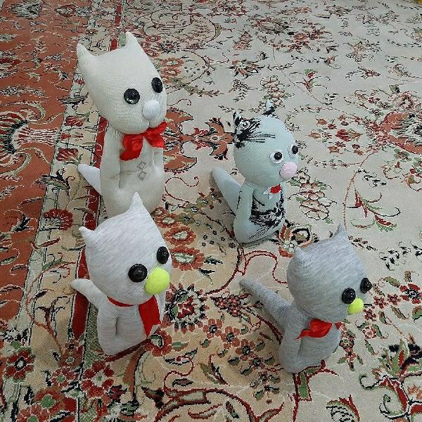 عروسک جورابی | طرح گربه ایستاده