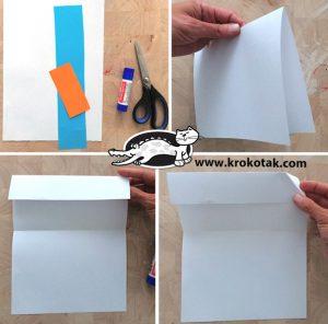 مرحله اول تا کردن کاغذ