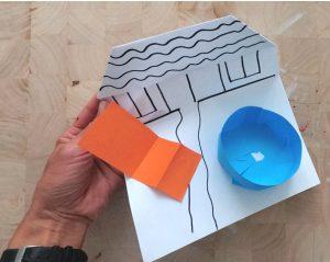 مرحله چهارم کشیدن خانه روی کاغذ