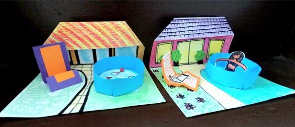 کاردستی کاغذی خانه تابستانی