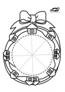حلقه گل کریسمس کاغذی