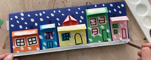 شهر کاغذی زمستانی برفی7