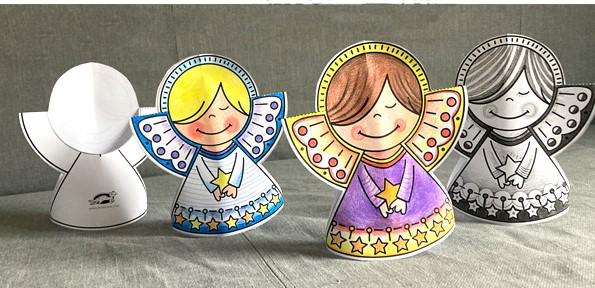 فرشته کریسمس کاغذی