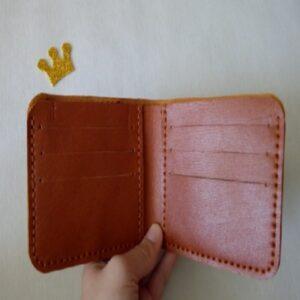 کیف پول دستدوز چرم بزی